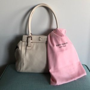 Kate Spade satchel with polka dot lining!